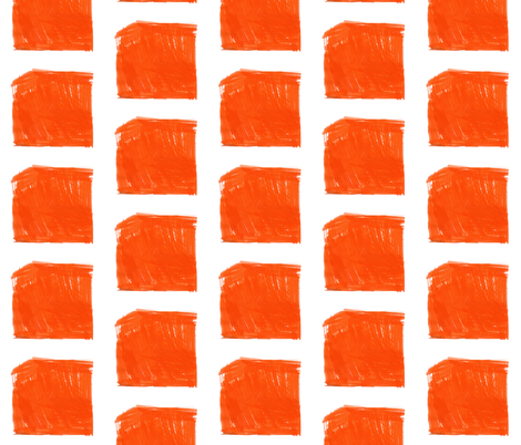 Orange Ink Check fabric by keska on Spoonflower - custom fabric