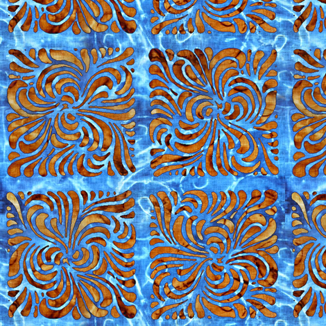 ocean batik fabric by keweenawchris on Spoonflower - custom fabric