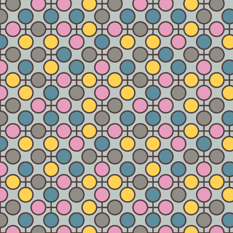 CircleRings_Pink fabric by modernprintcraft on Spoonflower - custom fabric