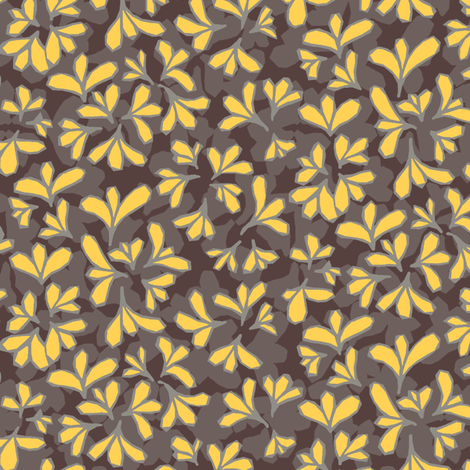 HollyAbstract_Yellow fabric by modernprintcraft on Spoonflower - custom fabric
