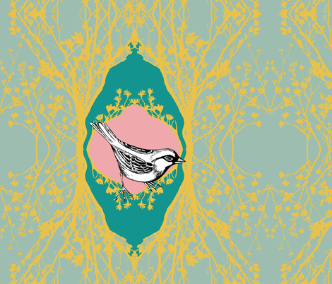 Modern Majestic - Sparrow - Cushion cover fabric by uzumakijo on Spoonflower - custom fabric