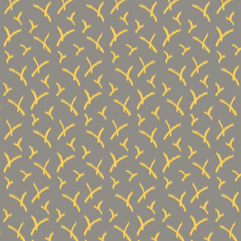 SmallVinesRough_Yellow fabric by modernprintcraft on Spoonflower - custom fabric