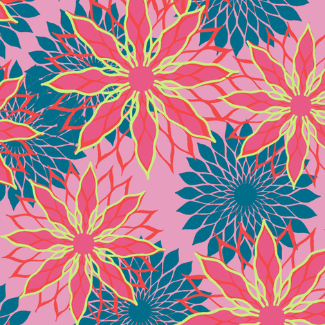 Flower Mix Print fabric by modernprintcraft on Spoonflower - custom fabric