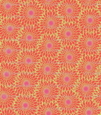 Sunflower Linework red