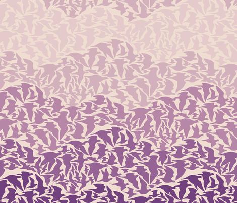 Flight of Pigeons (purple) fabric by ceanirminger on Spoonflower - custom fabric