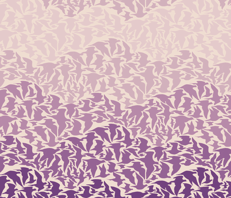 Flight of Pigeons (purple) fabric by ceanirminger on Spoonflower - custom fabric