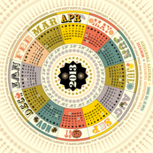 2013 Tea Towel Calendar (Circle)