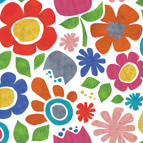 Flowers Textured fabric by heidiryancreative on Spoonflower - custom fabric