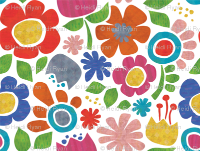 Flowers Textured