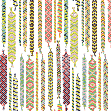 Befriended Bracelets White fabric by heidiryancreative on Spoonflower - custom fabric