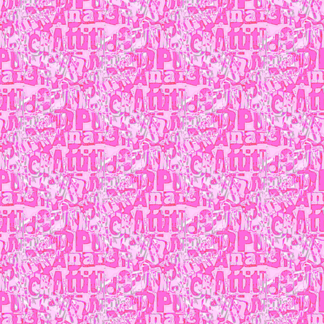 Attitude and anarchy (pink) fabric by raccoons_rags on Spoonflower - custom fabric