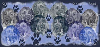 Plott Hounds Portraits dog breed fabric