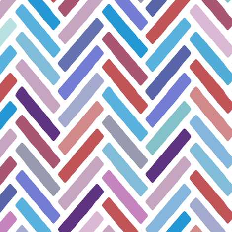 herringbone blue pink fabric by scrummy on Spoonflower - custom fabric