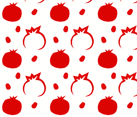 Pomegranate fabric by allgeek on Spoonflower - custom fabric