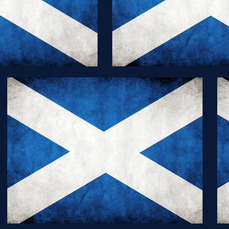 Scotland Flag; weathered fabric by rengal on Spoonflower - custom fabric