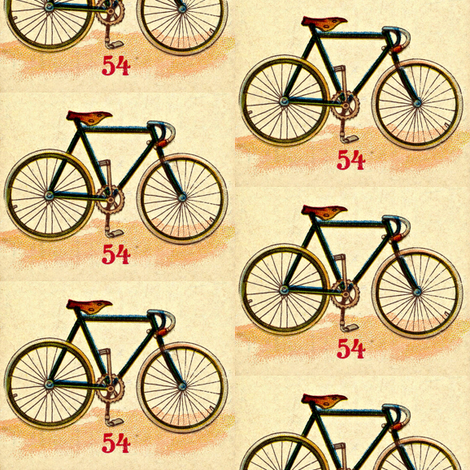 Bicycle 54 fabric by mbsmith on Spoonflower - custom fabric