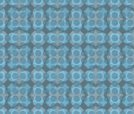 Blue Circles fabric by bojudesigns on Spoonflower - custom fabric