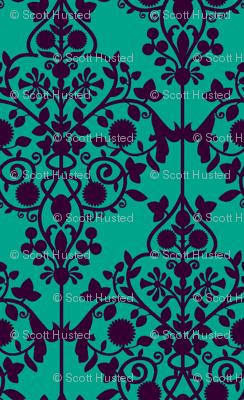 Persian Lattice turquoise