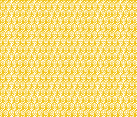 Geometric Flower - Mustard fabric by gobennygo on Spoonflower - custom fabric