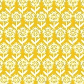 Geometric Flower - Mustard