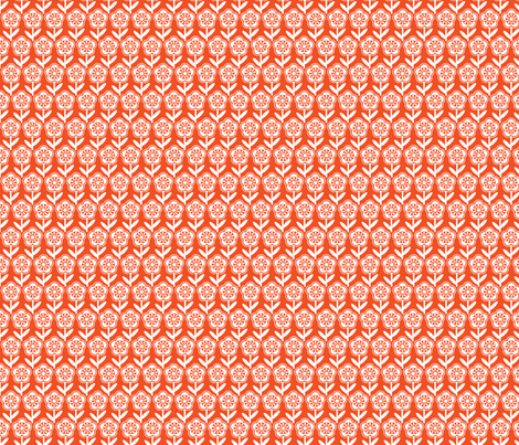 Geometric Flower - Orange fabric by gobennygo on Spoonflower - custom fabric