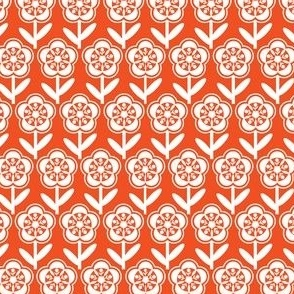 Geometric Flower - Orange