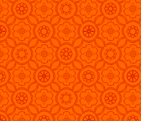 Compass & Wheel orange fabric by flyingfish on Spoonflower - custom fabric