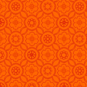 Compass & Wheel orange