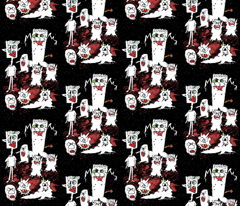 Its a Wild Monsterzoo fabric by lillyarts on Spoonflower - custom fabric