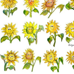 Cartoon Sunflowers