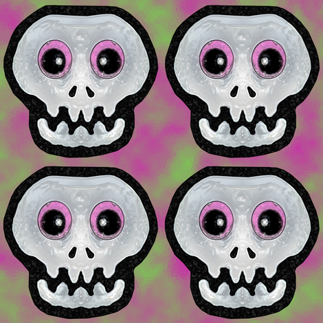 skulls1spoon fabric by kimb_kreatures on Spoonflower - custom fabric