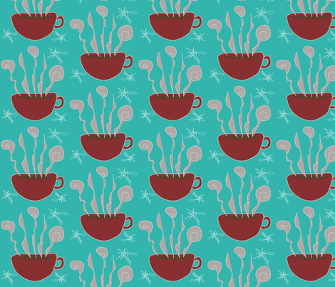 Steamy_Cup_O_Joe fabric by garwooddesigns on Spoonflower - custom fabric
