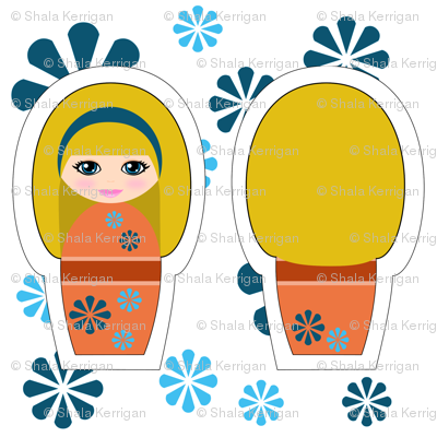 Kokeshi Blonde Swatch Toy