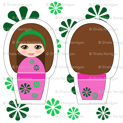 Kokeshi Brunette Swatch Toy