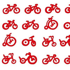 Multi Bike - Red bikes with white background