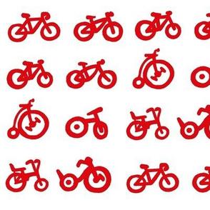Multi Bike - Red bikes with white background