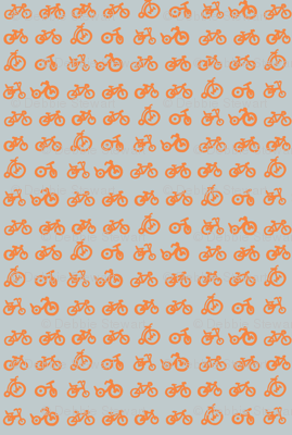 Multi Bike - Tangerine bikes with grey background