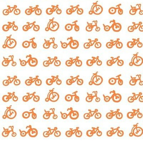 Multi Bikes - tangerine bikes with white background