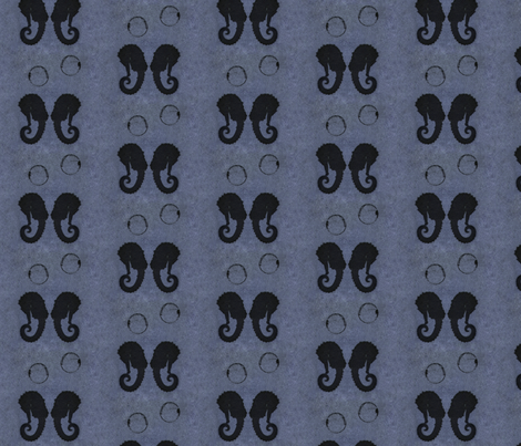 seahorse bubble blue fabric by trollop on Spoonflower - custom fabric