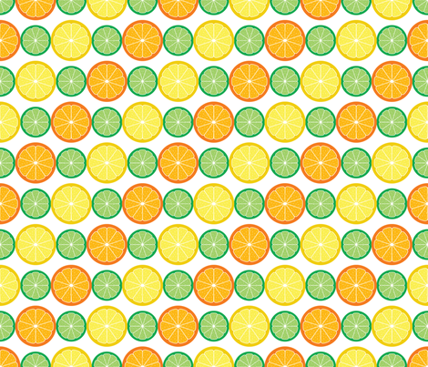 Sunny Citrus fabric by jjtrends on Spoonflower - custom fabric
