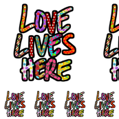 LOVE LIVES HERE pillow kit