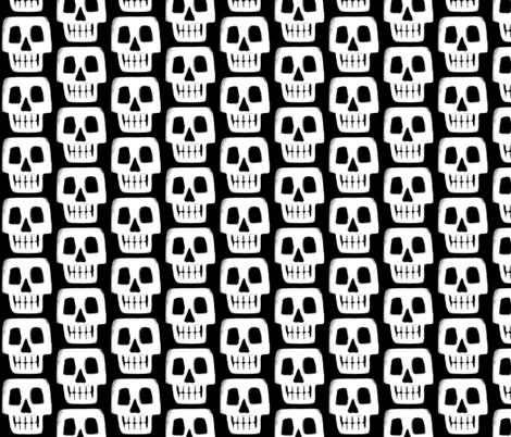 death skull fabric by scrummy on Spoonflower - custom fabric