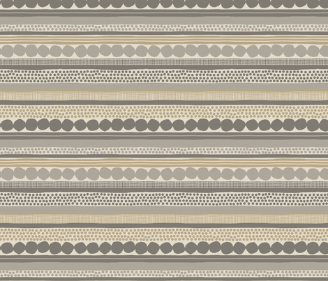 POMEGRANATE_STRIPES_beige fabric by glorydaze on Spoonflower - custom fabric