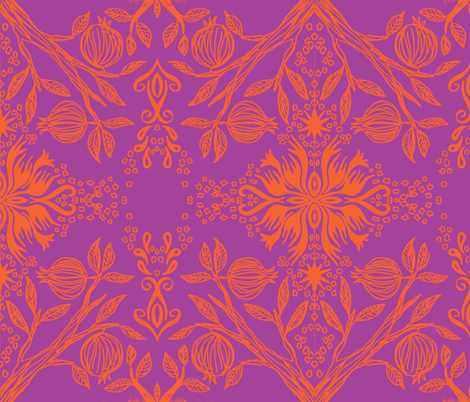 pom purple fabric by hooeybatiks on Spoonflower - custom fabric