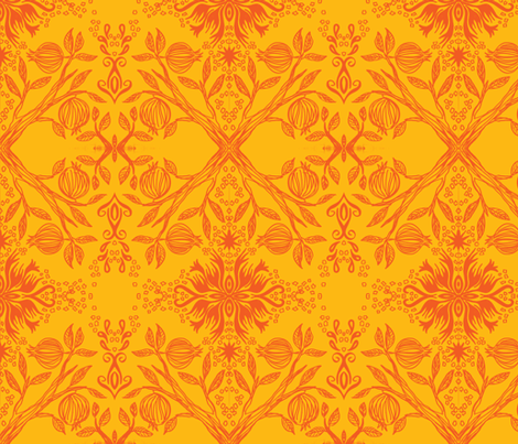pom golden fabric by hooeybatiks on Spoonflower - custom fabric