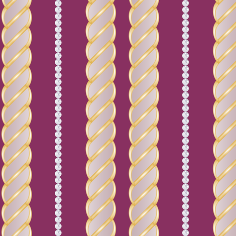 Chains&Pearls in Purple fabric by fridabarlow on Spoonflower - custom fabric