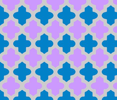 Customed Moroccan Quatrefoil fabric by fridabarlow on Spoonflower - custom fabric