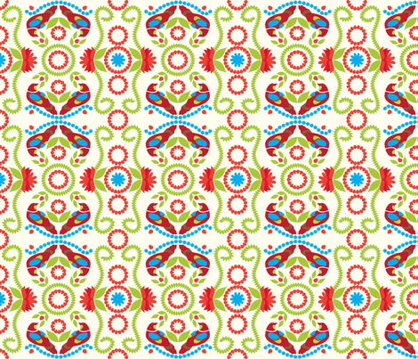 Jacobean Pomegranate Tree 2 fabric by bbsforbabies on Spoonflower - custom fabric