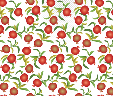 pomegranate and polka dots fabric by kociara on Spoonflower - custom fabric