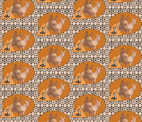 The Pharaoh Hound Of Ancient Egypt fabric by dogdaze_ on Spoonflower - custom fabric